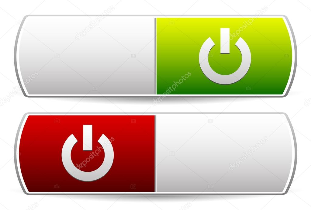 Aus-Schalter. Symbole — Stockvektor © vectorguy #73857665