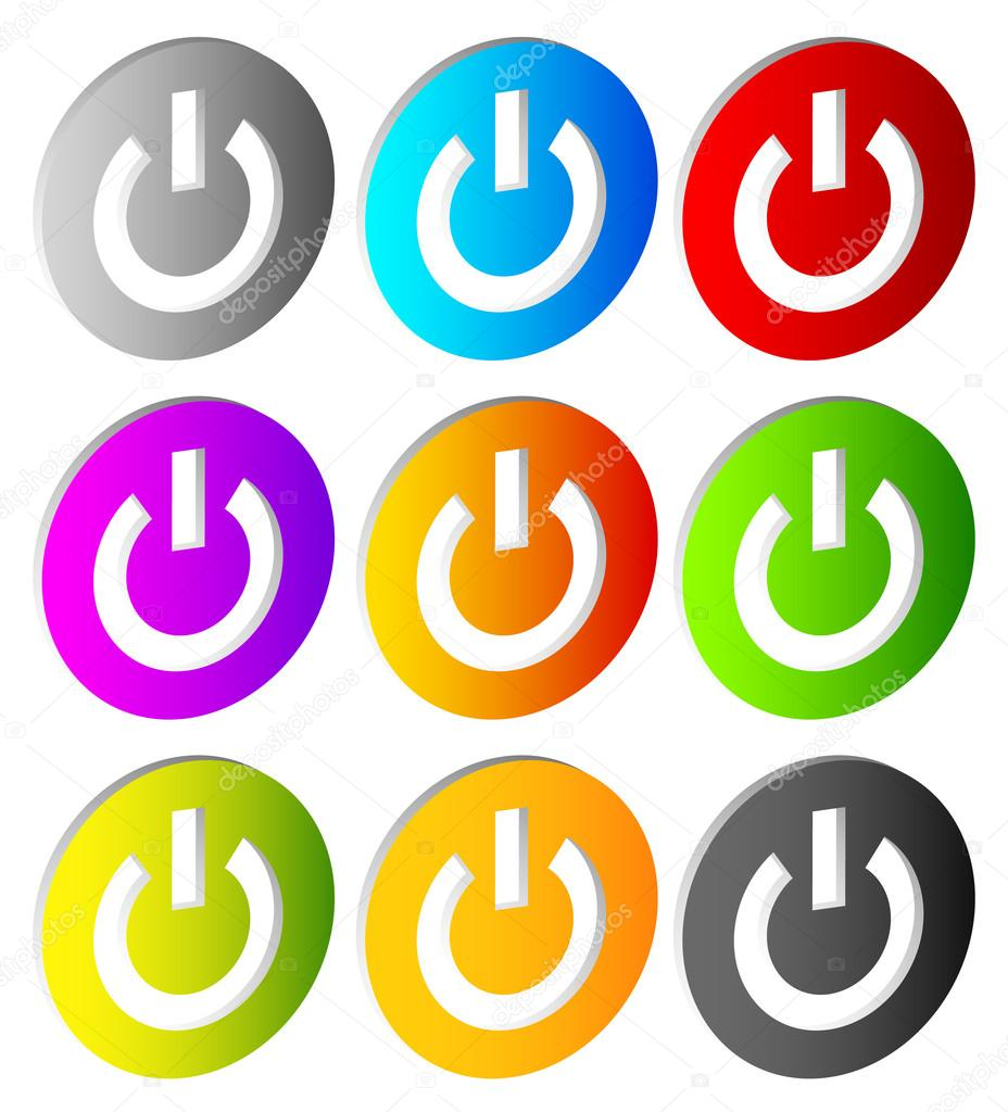 Aus-Schalter. Symbole — Stockvektor © vectorguy #73857685