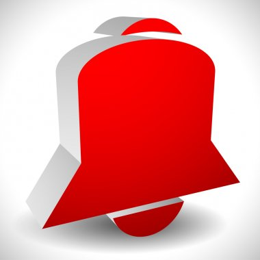 3d bell alarm icon