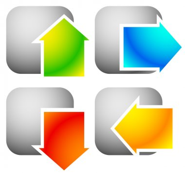 Colorful bold arrow icons.