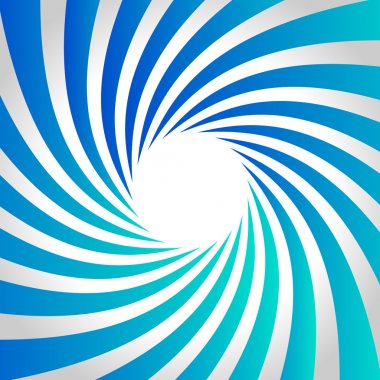 Blue spiral background.
