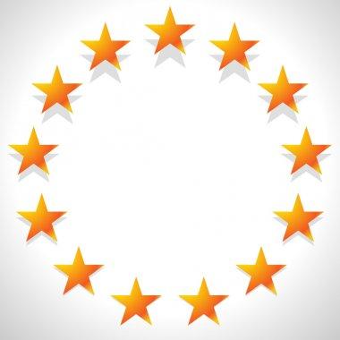 Yellow stars in circle