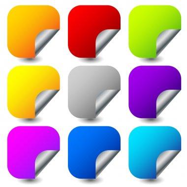 square color stickers set