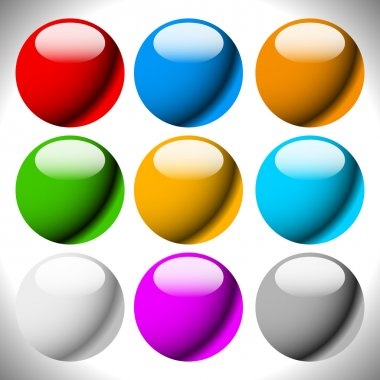 Empty circle button backgrounds