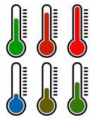 Fotografia Insieme di simboli di termometro insieme