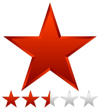 3d star icon with rating.