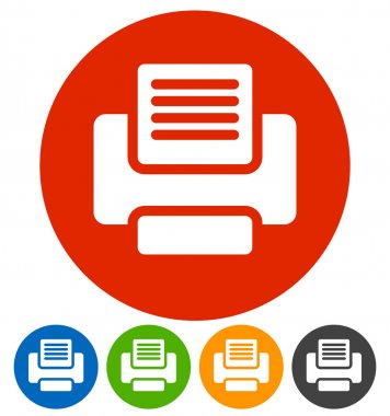 printer, office, technology icons