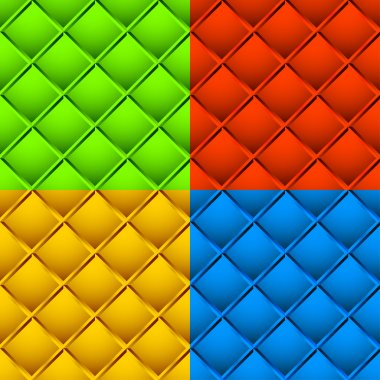 abstract squares patterns set