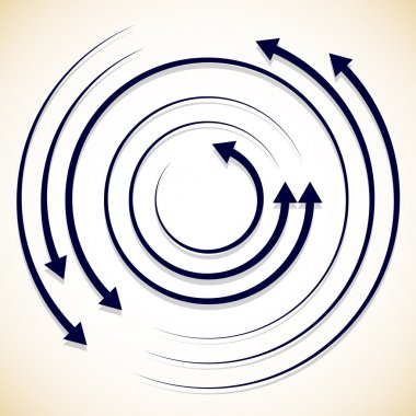circulating, rotating arrows background