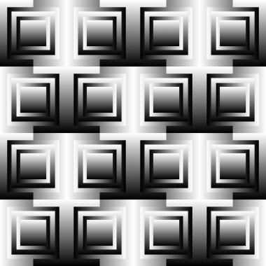 Squares abstract geometric pattern