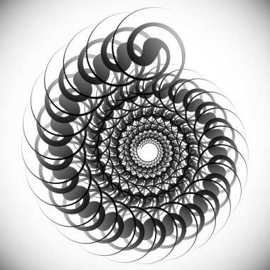 Abstract spinning shape, element