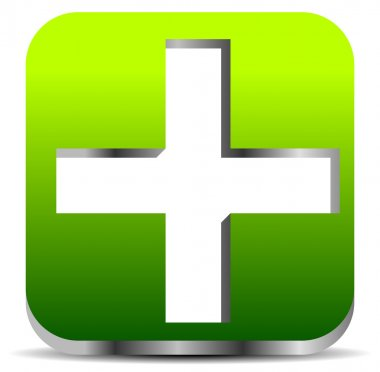 Green cross sign for first aid
