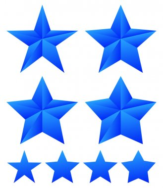 Set of abstract star icons