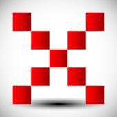 Vektor rotes x Kreuz Zeichen Symbol — Stockvektor #8737896 | {Rotes kreuz symbol 71}