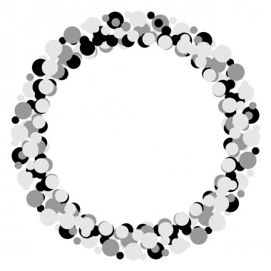 Dotted abstract element, circles