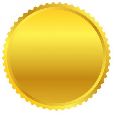 Golden starburst, badge