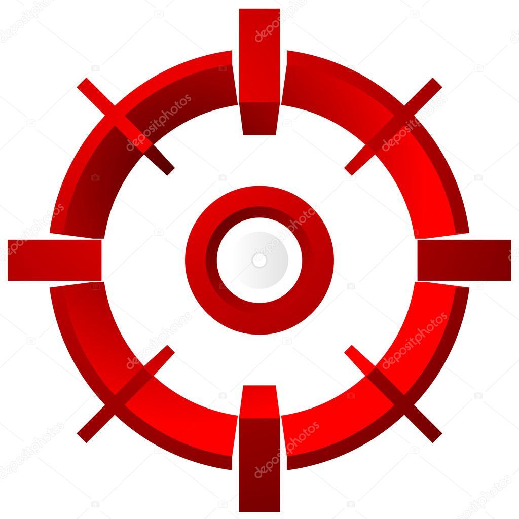 Target aim symbol stock vector vectorguy 90695512 target aim symbol stock vector buycottarizona Image collections