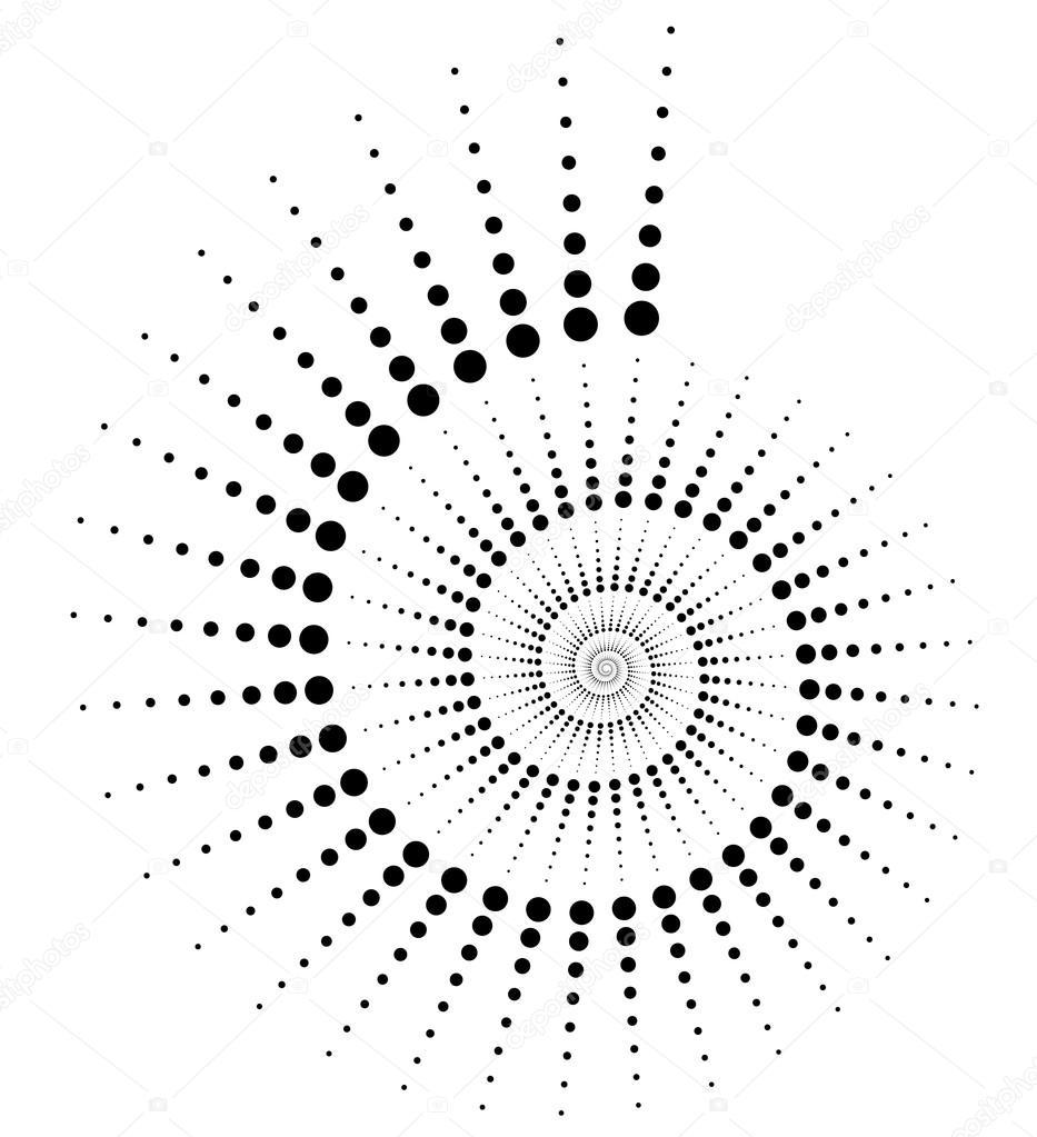 Elemento abstracto caracol puntos — Vector de stock © vectorguy ...