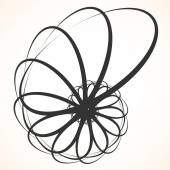 Abstraktní kruhové rotující prvek.