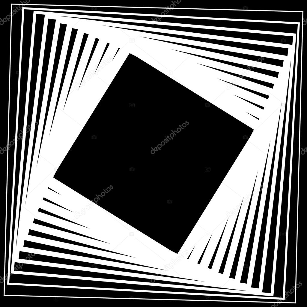 Background image rotate 90 - Abstract Monochrome Rotating Squares Background Stock Illustration