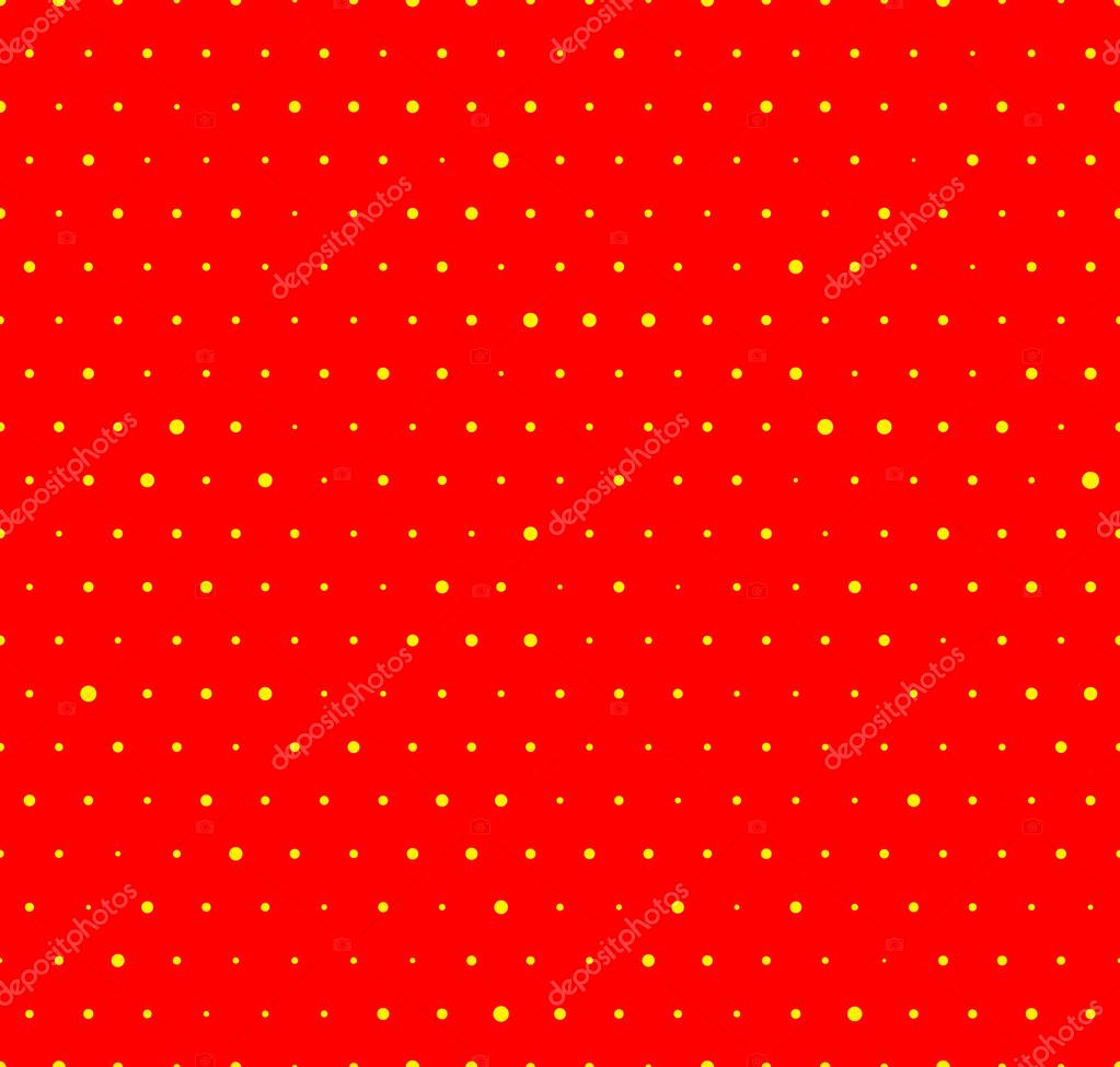 Dotted yellow and red pattern.