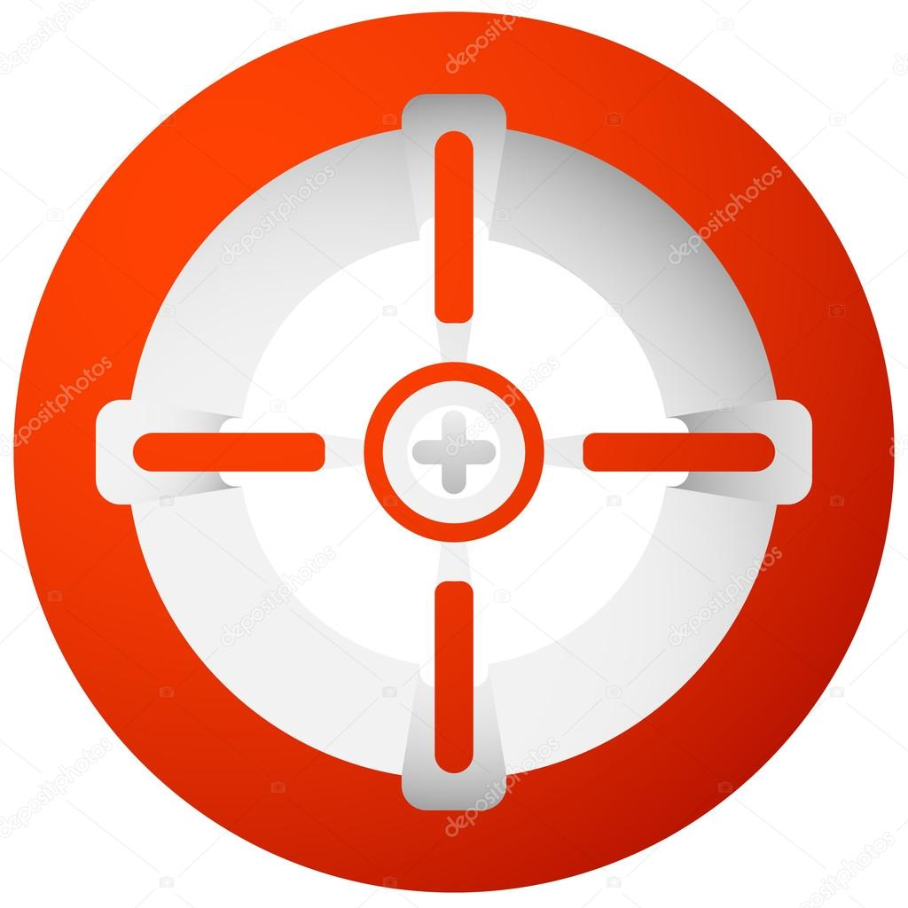 Target mark aim symbol stock vector vectorguy 99036222 target mark aim symbol stock vector buycottarizona Image collections