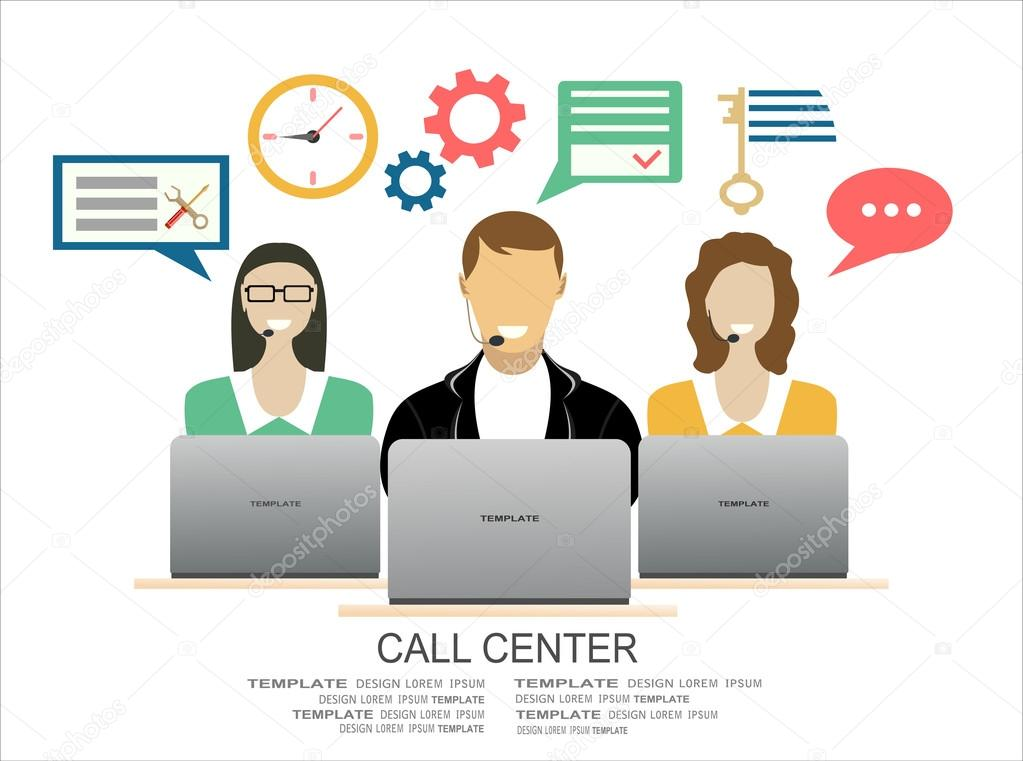 Technical support call center concept — Stock Vector © mitay20 ...