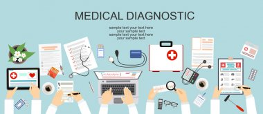 Healthcare, hospital and medical diagnostics concept
