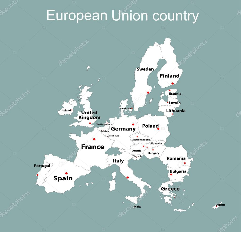 european union map with all countries stock vector mitay20 97384890