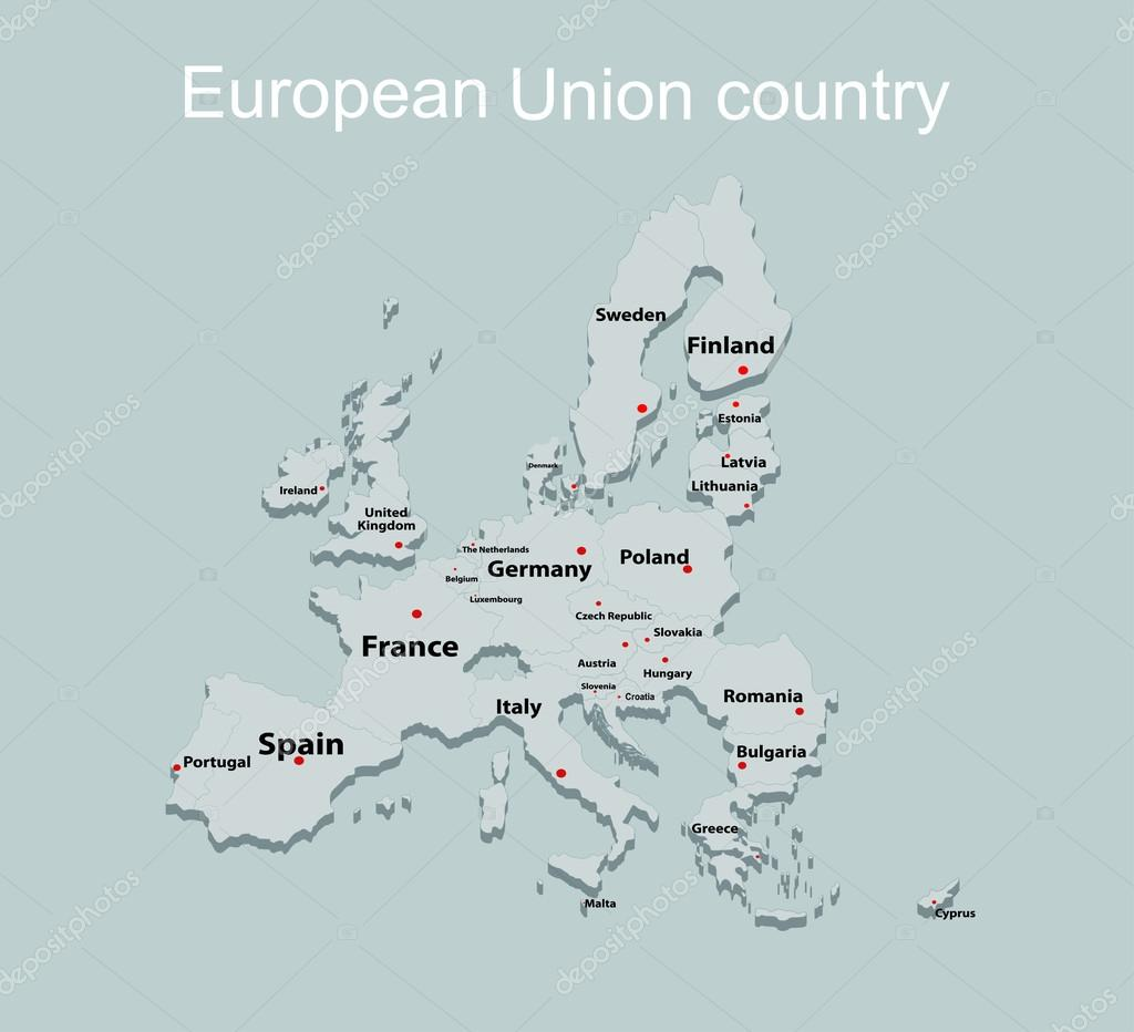 european union map with all countries stock vector mitay20 97399672