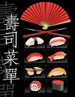 Sushi menu template.