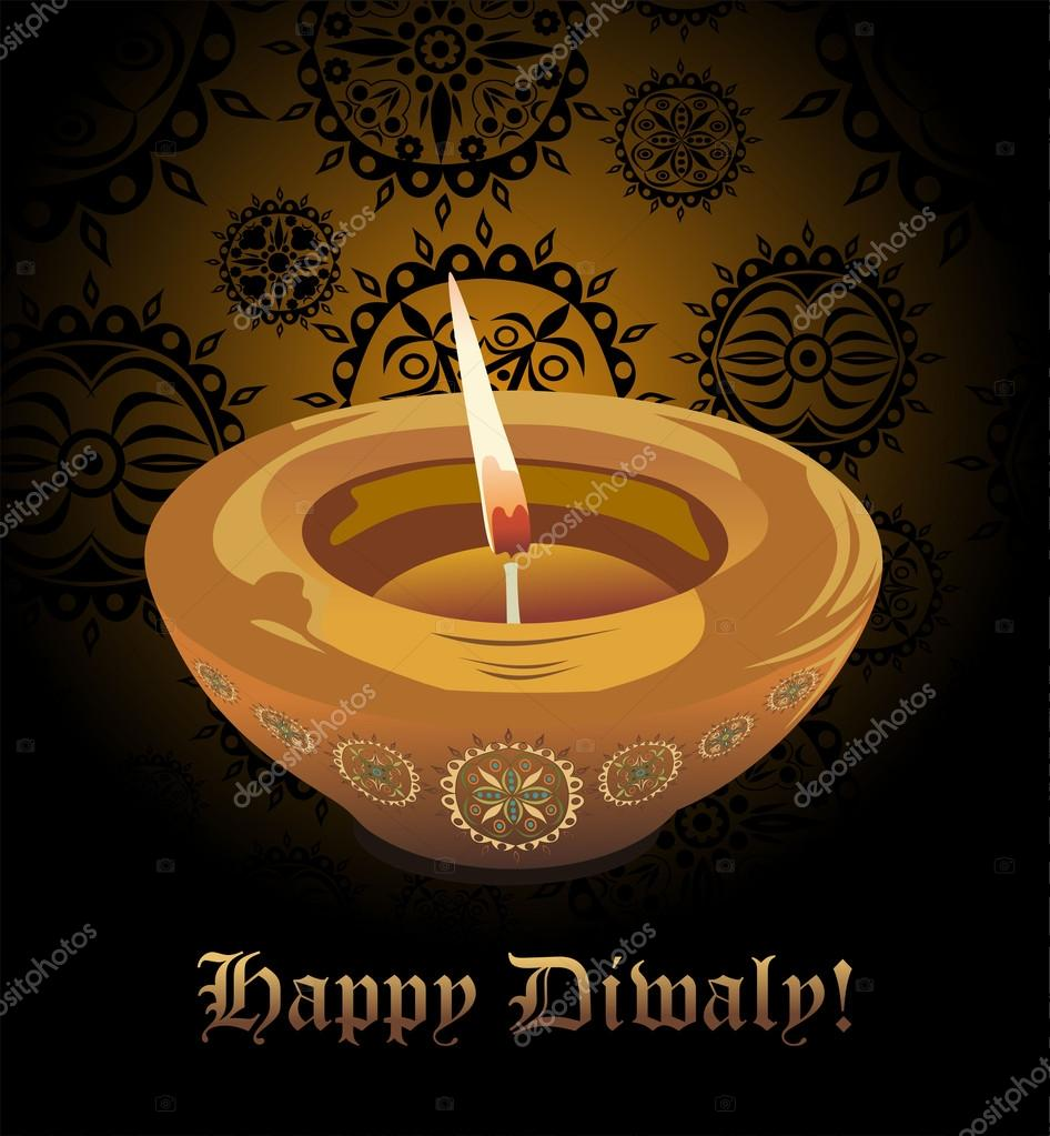 Beautiful Diwali Greeting Card Stock Vector Mitay20 97445512