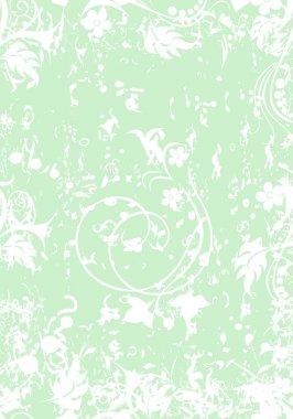 """Картина, постер, плакат, фотообои """"фон с цветами и вьющиеся листья"""", артикул 97454028"""