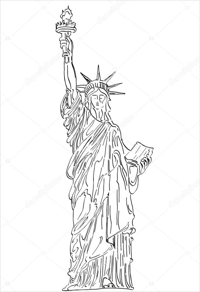 Imágenes: la estatua de la libertad para dibujar | Estatua de la ...