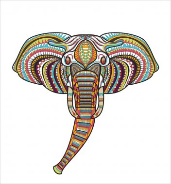 Patterned head of elephant