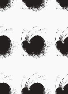 Grunge pattern with black blots