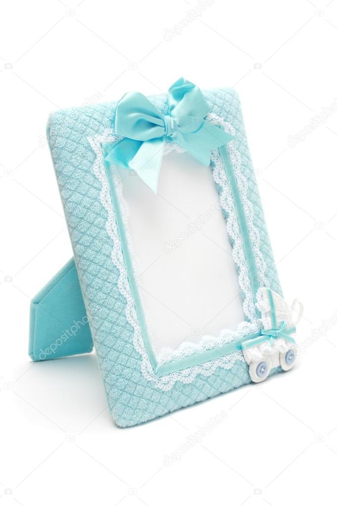 marco de fotos para el recién nacido varón — Foto de stock ...