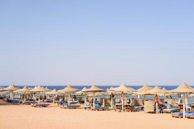 Tropical beach at an upmarket seaside resort