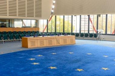 France, Strasbourg - 29 October 2015:Human Rights Building - Interior