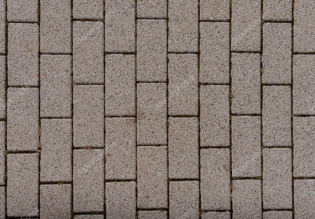 Outdoor Grey Concrete Block Floor Background And Texture Stock Photo