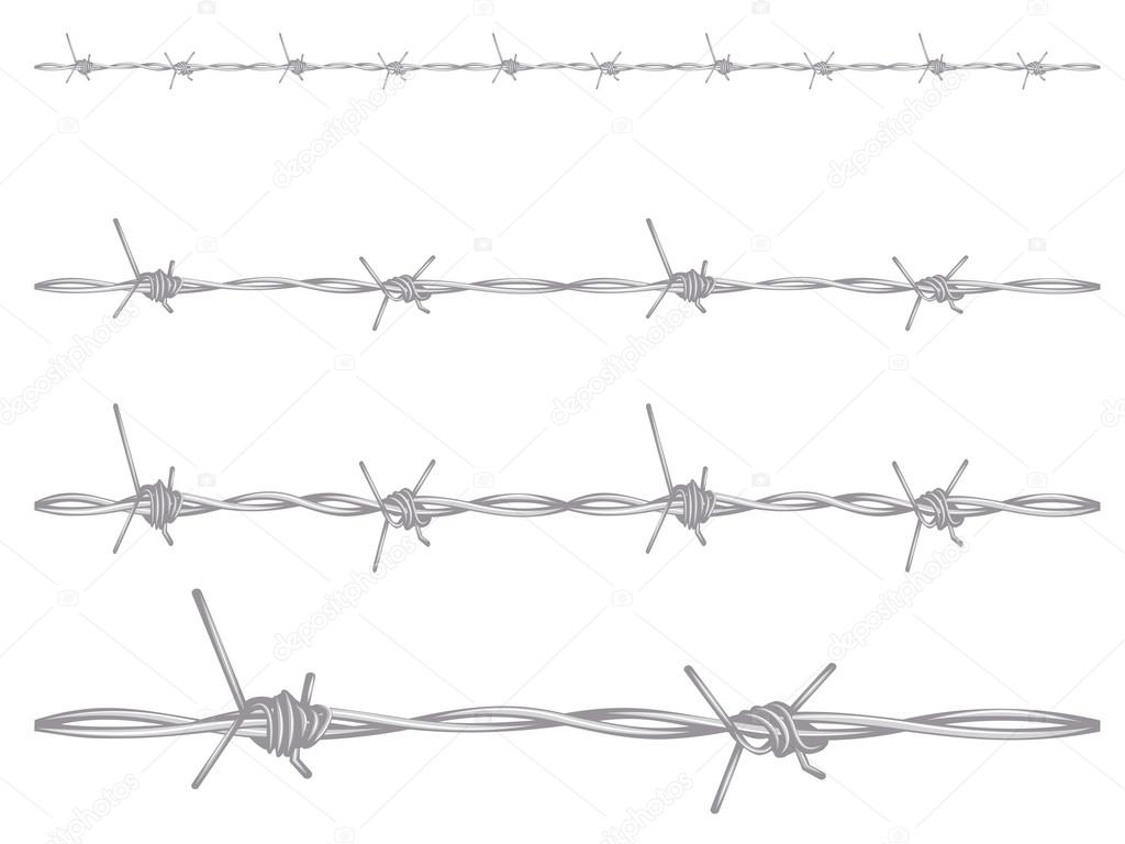 Barbed wire illustration — stock vector