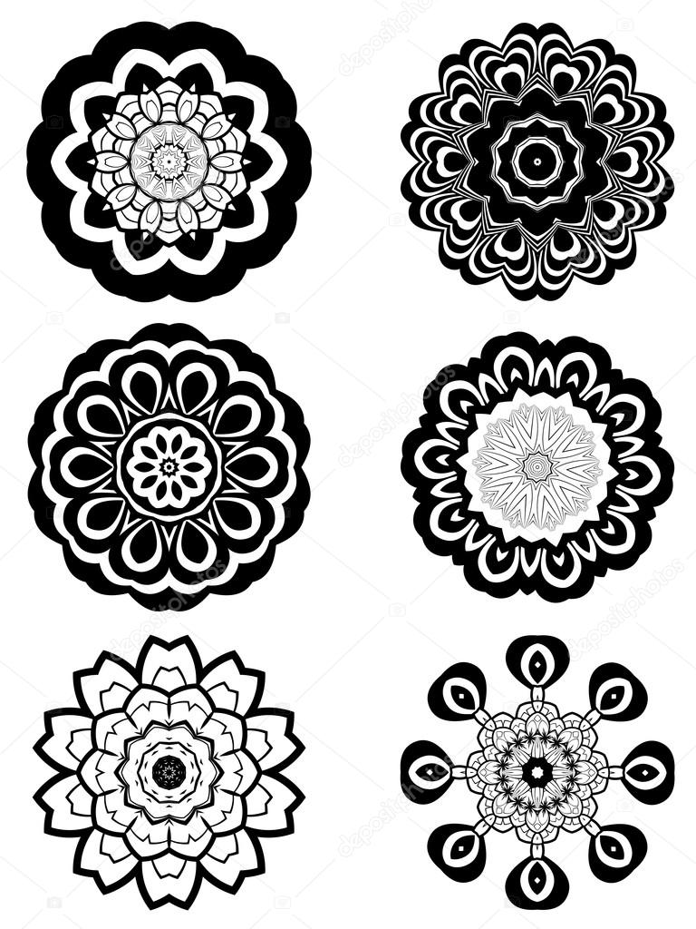 Simple black and white flowers stock vector artshock 115732448 simple black and white flowers stock vector mightylinksfo
