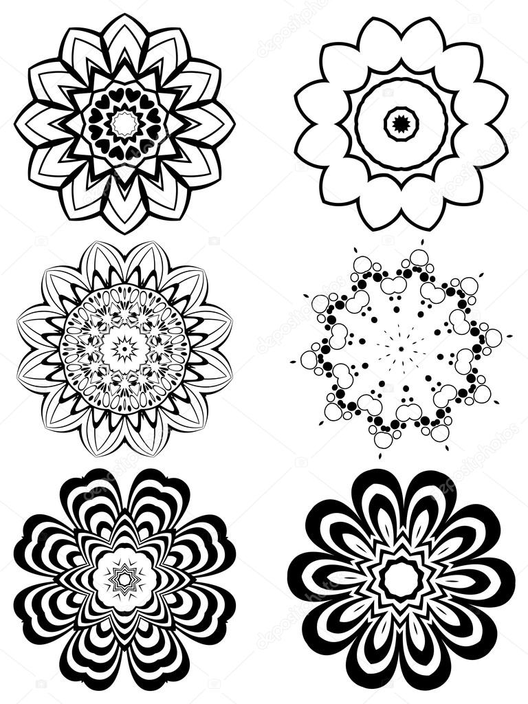 Simple black and white flowers stock vector artshock 117165998 simple black and white flowers stock vector mightylinksfo Choice Image