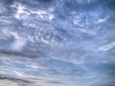 White Clouds and Sky