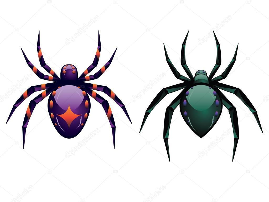 Arañas De Halloween Para Colorear: Dibujos Animados Araña Halloween
