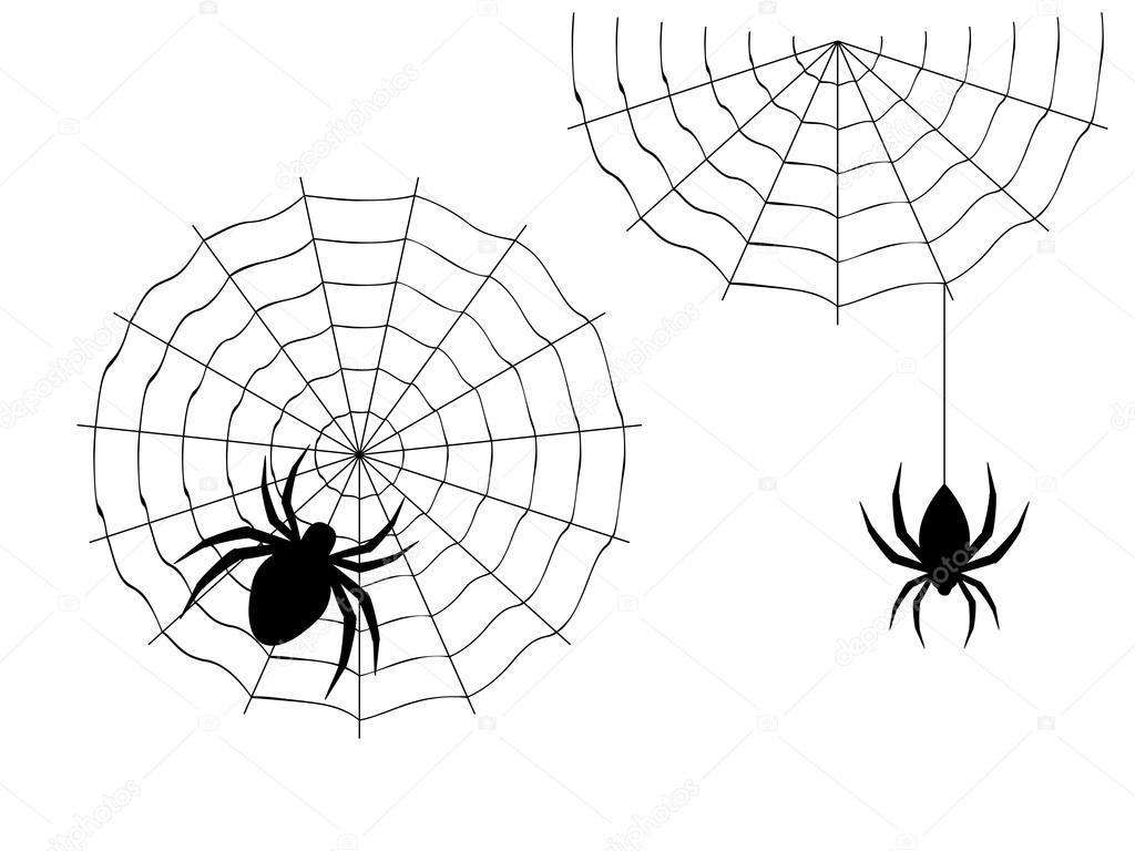 Dibujos Animados Arana Halloween Archivo Imagenes Vectoriales - Dibujos-araas-halloween