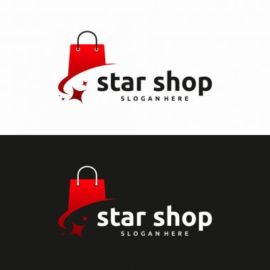 Shopping bag logo designs, Online Shop logo template icon