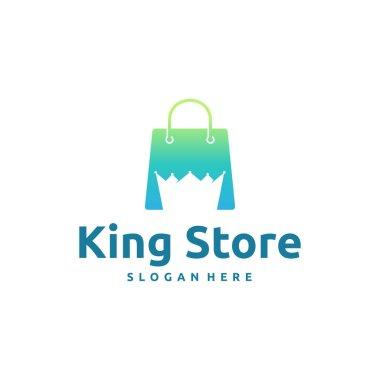 King Store Logo designs concept vector, Luxury Shop logo icon