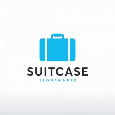 Suitcase logo template symbol icon