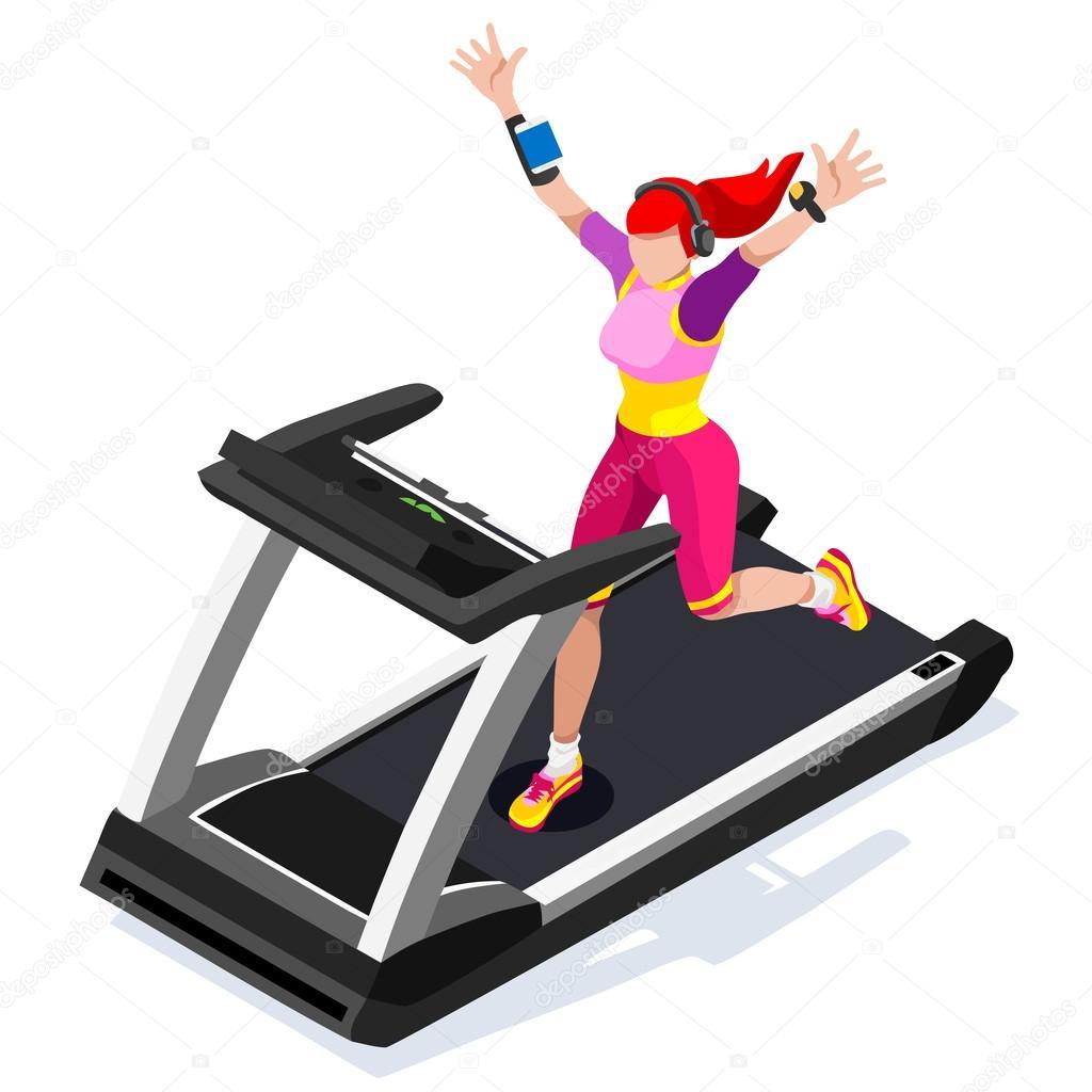 treadmill gym class working out gym equipment treadmill running